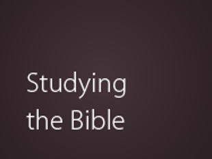 Basics of Studying the Bible icon