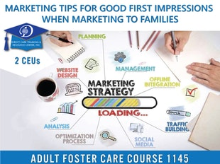 Group Living Course 1145 -5 Marketing Tips for Good First Impressions when Marketing to Families icon