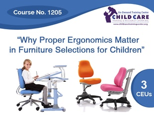 CEU Course 1205 - Why Ergonomics are Important in Furniture Used for Children icon