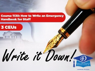 Michigan Adult Foster Care Course 1130 - How to Write an Emergency Handbook for Staff icon