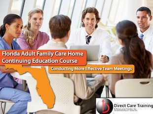 Florida Adult Family Care Course 1108 - How to Conduct Effective Staff Training Sessions icon