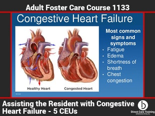 Michigan AFC #1133 - (5 CEUs) Assisting the Resident With Congestive Heart Failure icon