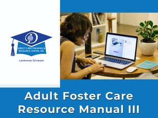 Adult Foster Care Resource Manual III icon