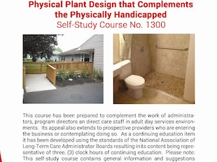 Adult Day Care Course 1300 - Physical Plant Design that Complements the Physically Handicapped icon