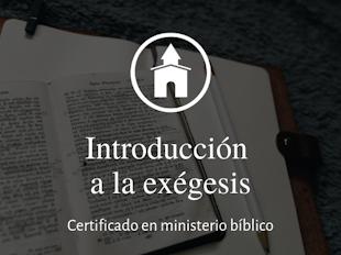 Introducción a la exégesis icon