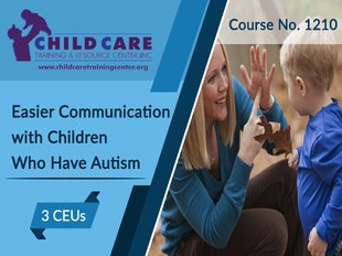 CEU 1210 - Easier Communication with Children Diagnosed with Autism icon