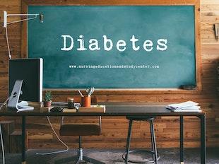Diabetes Study Whiteboard icon