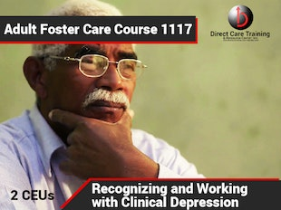 Michigan Adult Foster Care Course 1117 - Recognizing and Working With Clinical Depression icon