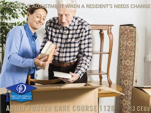 Michigan Adult Foster Care Course 1128 - Making the Adjustment When a Resident's Needs Change icon