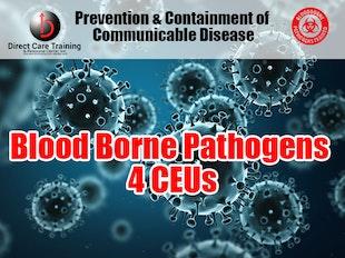 Prevention & Containment of Communicable Disease: Blood Borne Pathogens.  Represents: 4 CEUS icon