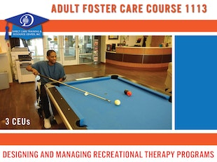 Michigan Adult Foster Care Course 1113 - Designing and Managing Recreational Therapy Programs for Those with Cognitive Limitations icon