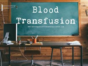 Blood Transfusions Study Whiteboard icon