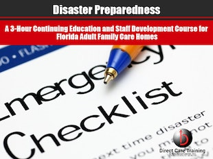 CEU Product:  Florida Adult Family Care Home Disaster Preparedness Training - Certifies 3 Persons icon
