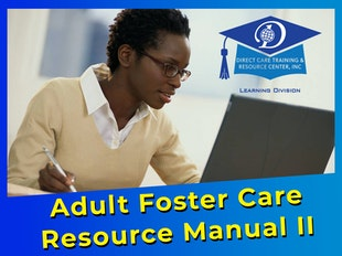 Adult Foster Care Resource Manual II - 16 Continuing Education Credits icon