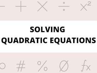 Solving Quadratic Equations icon