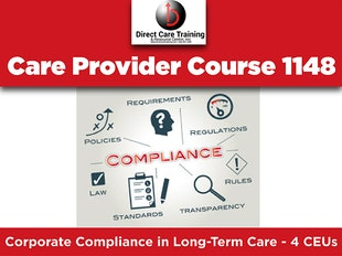 Course 1148 - Corporate Compliance in Long-Term Care. Under edit until 12.15.2018 icon