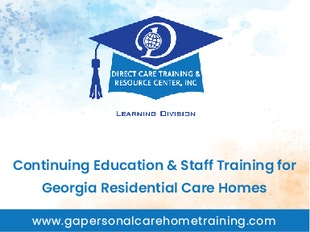Staff Training and Continuing Education for Georgia Personal Care Homes & Other Residential Care icon