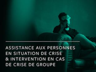 Assistance aux personnes en situation de crise & Intervention en cas de crise de groupe icon