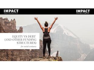 Equity vs Debt Online Webinar icon