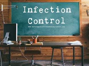 Infection Control Study Whiteboard icon