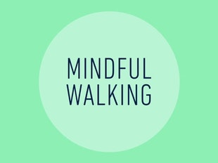 Mindful walking icon