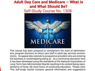 Adult Day Care Course 1308 - Adult Day Care and Medicare icon
