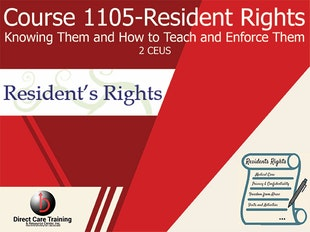 Group Living Course 1105 - Knowing Resident Rights and How to Teach them to Staff icon